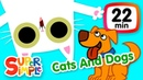 Kids' English | The Super Simple Show - Cats And Dogs | Kids Songs Cartoons About Pets