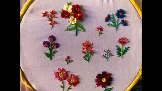 #Hand Embroidery stitches for small designs #Small embroidery flowers for beginners