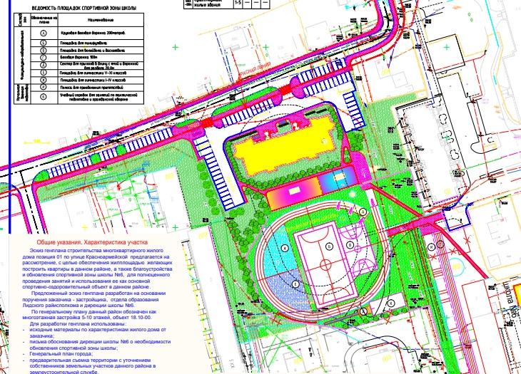 В Лиде могут благоустроить спортивную зону 6-й школы.