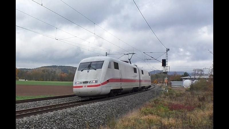 ICE 1 Triebköpfe ohne Zug HVLE Geisterzug InfraLeuna E 10 1309 uvm auf der Frankenwaldbahn