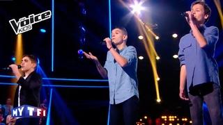 Je t'aimais, je t'aime...- Francis Cabrel   Romain - Jason - Matthieu   The Voice Kids 2016   Battle