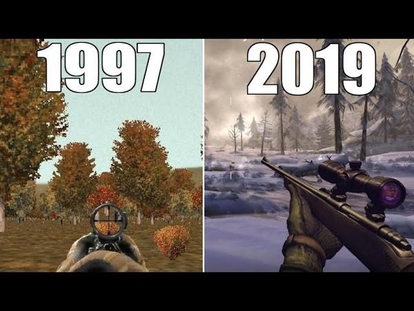 Evolution of Deer Hunter Games 1997 2019