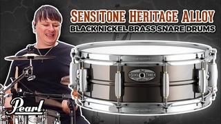 Pearl SensiTone Heritage Alloy Black Nickel Brass Snare Drums
