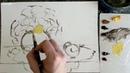 Воскресные рисовашки с Dari Art №41 Пишем маслом, натюрморт с одуванчиками!