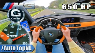 650HP BMW M3 E92 G-POWER on AUTOBAHN [NO SPEED LIMIT] by AutoTopNL
