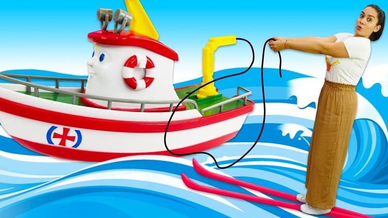 Spielzeug Kindergarten auf Deutsch Elias das Boot und Freunde Angeln Spielzeug Video für Kinder