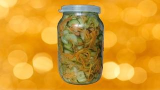 Вкусный салат из огурцов и моркови!!