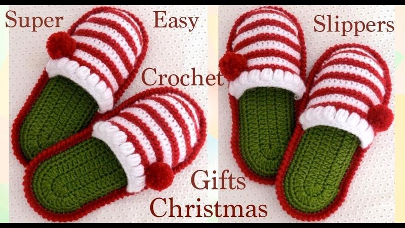 Pantuflas a crochet para bebes y tallas adultas para Navidad tejido tallermanualperu