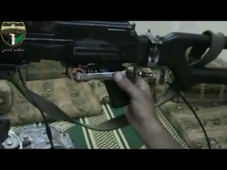 Боевики в Сирии сделали дистанционное управление пулемёта