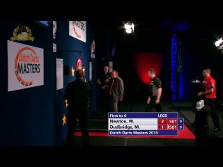 Wes Newton vs Mark Dudbridge (Dutch Darts Masters 2013 / First Round)