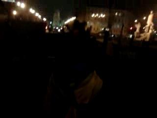 Кіеў. Міхайлаўскі майдан. 31-га сьнежня 2013 г. Песьня ад ўкраінскага сябра.
