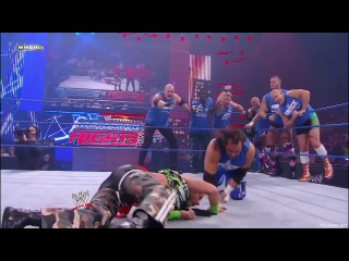 (wwewm) bragging rights 2009: team smackdown (chris jericho, kane, r-truth, matt hardy, finlay and the hart dynasty (tyson kidd and david hart smith)) vs. team raw (d-generation x (triple h and shawn michaels), big show, cody rhodes, jack swagger, kofi kingston and mark henry)