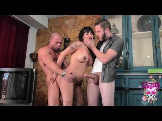 Foxxy - Taking on 2 Massive Cocks [2014