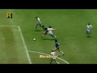 Аргентина - Англия. Диего Марадона.Лучший гол в истории футбола
