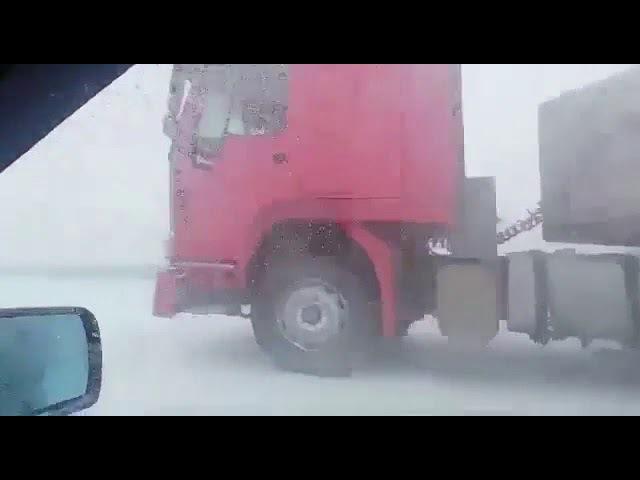 Крупная авария на Трассе Астана Караганда 27 12 2017