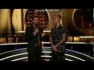 Justin Bieber Surprises Ashley on Knock Knock Live (Full)