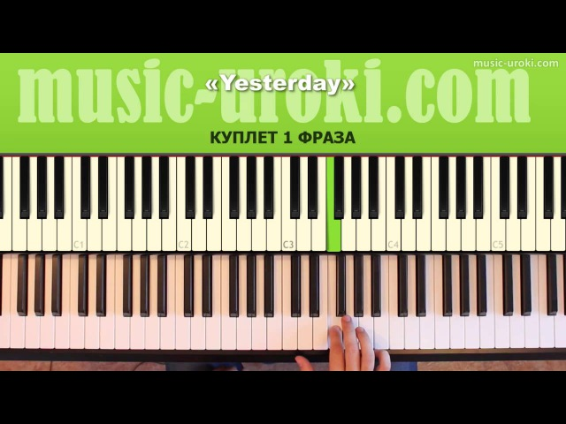 The Beatles Yesterday piano cover Ноты Tutorial