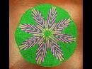 Коврик укороченными рядами Коврик спицами Жаккардовый узор Укороченные ряды спицами Jacquard mat
