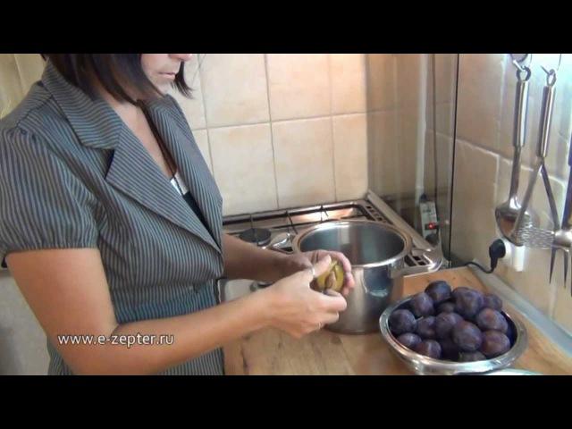 Сливовое варенье с шоколадом Plum jam with chocolate ♡ English subtitles