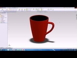 Моделирование кружки в SolidWorks 2011