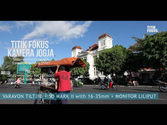 VARAVON TILT JIB T3 9 5ft MINI JIB 5D Mark II with Lens 11 16mm Liliput Monitor