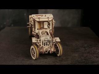 Тест драйв деревянного грузовика UGM-11 от UGears