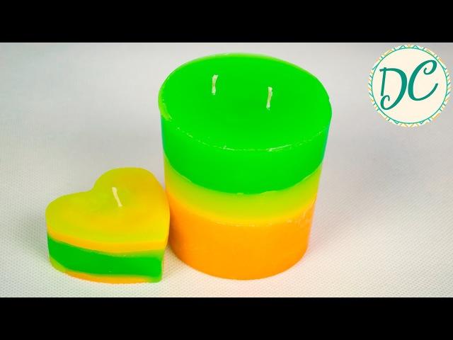 Подарок Своими Руками! Цветные Ароматические Свечи!