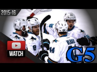 San Jose Sharks vs St. Louis Blues. 2016 NHL Playoffs. WCF. Game 5.  (HD) 9 GOALS!