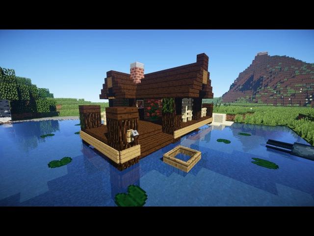 домик в лесу коло моря в майнкрафт #5