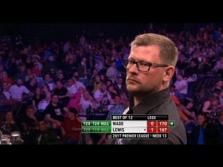 James Wade vs Adrian Lewis (2017 Premier League Darts / Week 13)