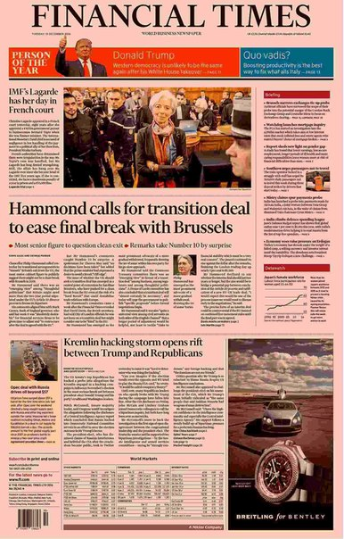 Financial Times UK  December 13 2016
