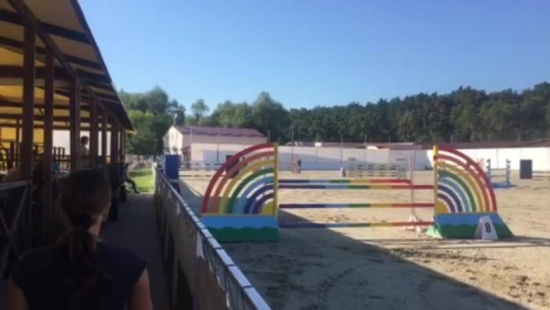 Конкур в Круглике Николай Пилипейко на Баше