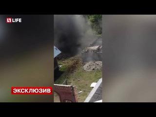 Момент подрыва СВУ в Ингушетии