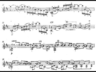 William Walton - Five Bagatelles for Guitar (1971) [Score-Video]