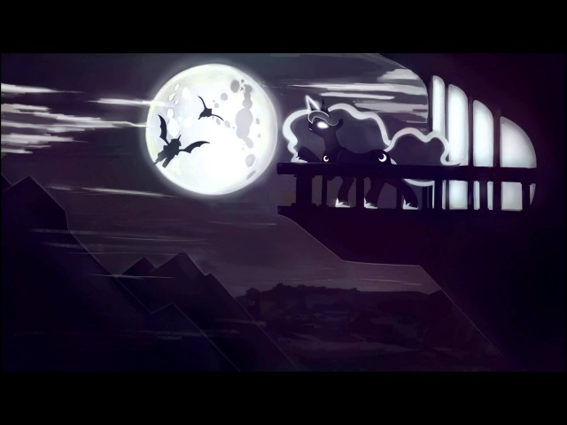 Przewalski's Ponies Full Moon Leaving Home