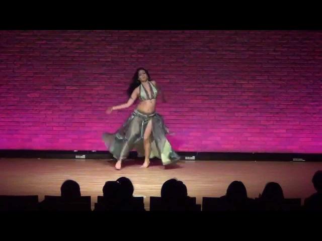 Roshana Nofret OSAKA JAPAN 2014 Oriental Dance Drum Solo