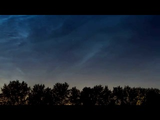 Timelapse noctilucent clouds   Таймлапс серябристые облака