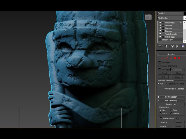 3DsMax: Totem highPoly speed modeling (Long version)