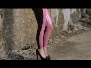 Marilyn yusuf latex leggings and catsuit photoshoot in munich