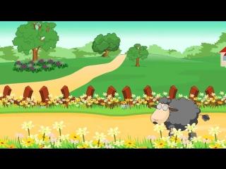Ba ba black sheep nursery rhyme - cartoon animation song for children
