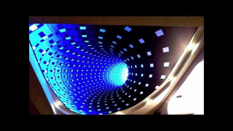 New 3D Effect Technology on Stretch Ceiling Clipso with RGB LED light Installation in New York USA