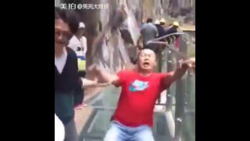 ACROPHOBIA COMPILATION Scariest Glass Skywalk in Tianmen China