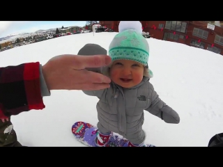 The smallest snowboarder in the world