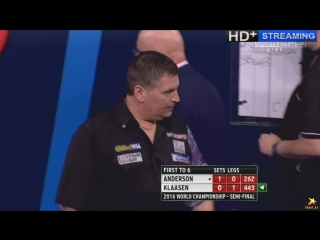 Gary Anderson vs Jelle Klaasen (PDC World Darts Championship 2016 / Semi Final)