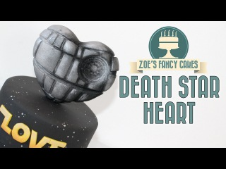 () DEATH STAR cake topper heart
