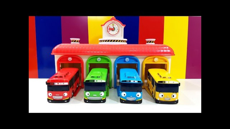 The Wheels On The Bus Play Learn Colors with Tayo The Little Bus Talk Animation 타요 꼬마버 스 타요 미니친구들