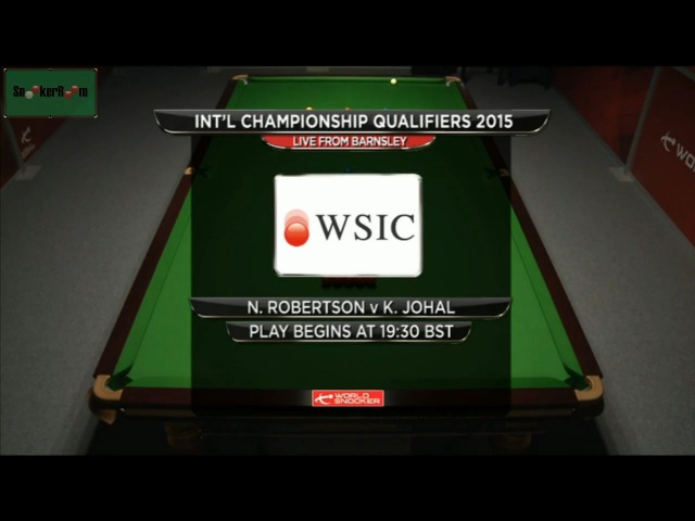 Neil Robertson v Kuldesh Johal International Championship Qualifiers 2015