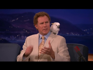 Conan  will ferrell, ellie kemper, and comedian andy woodhull