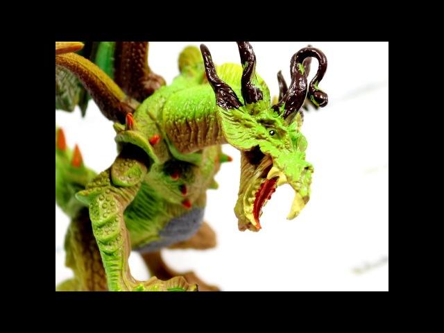 Круговой обзор игрушечного дракона YangGuang Зелено желтый