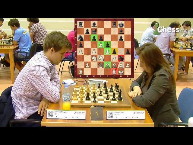 Magnus Carlsen vs Judit Polgar, World Blitz Championship 2014, Dubai